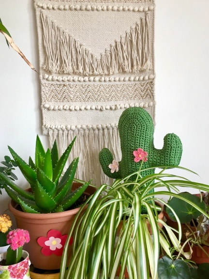 modele patron cactus crochet peluche