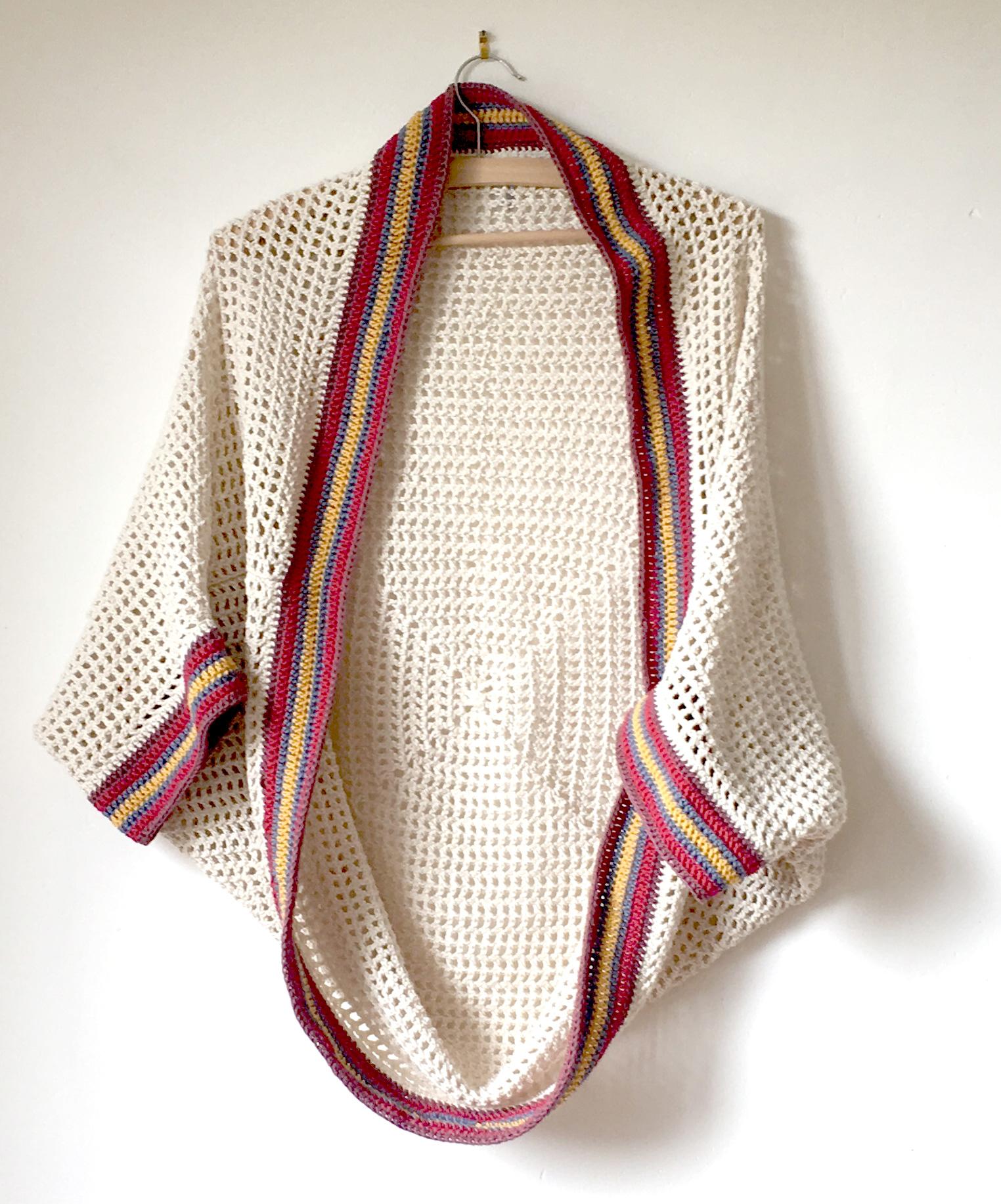 Modèle Crochet Le Gilet Cocon Dété 100 Coton Bio Le