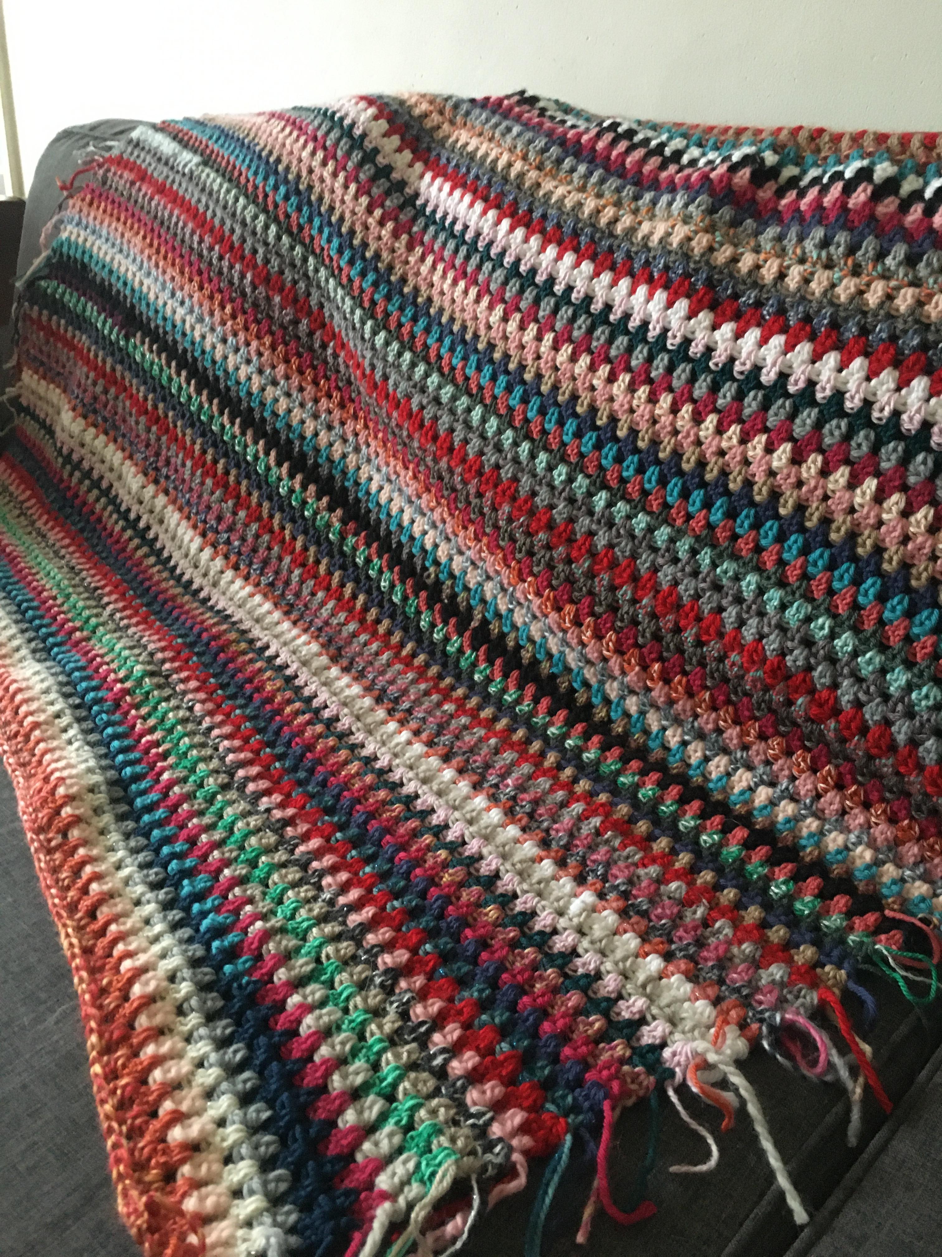Rayées couvertures pour crochet